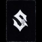 Silver Sabaton logo wristband