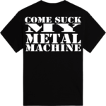 Primo Victoria - Come suck my metal machine Sabaton t-shirt backside