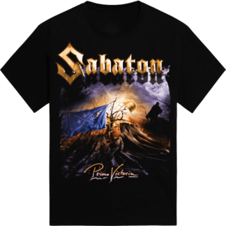 Primo Victoria - Come suck my metal machine Sabaton t-shirt frontside