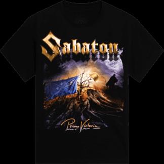 Primo Victoria - Come suck my metal machine Sabaton t-shirt frontside