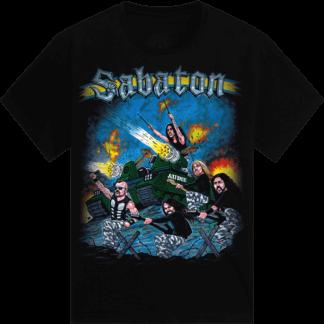 Comic tank Sabaton kids tshirt frontside