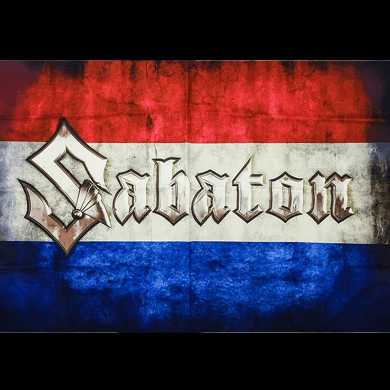 Dutch Sabaton Logo Flag