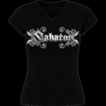 Metallic Sabaton logo tshirt frontside