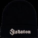 Sabaton silver logo cuffed beanie