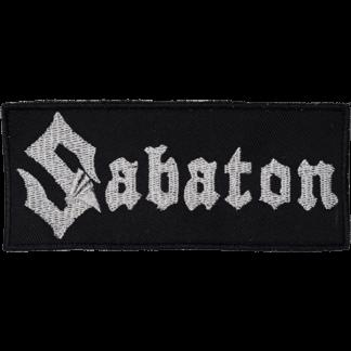 Silver Sabaton logo patch