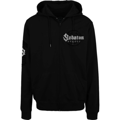 Swedish war machine Sabaton zip hoodie frontside