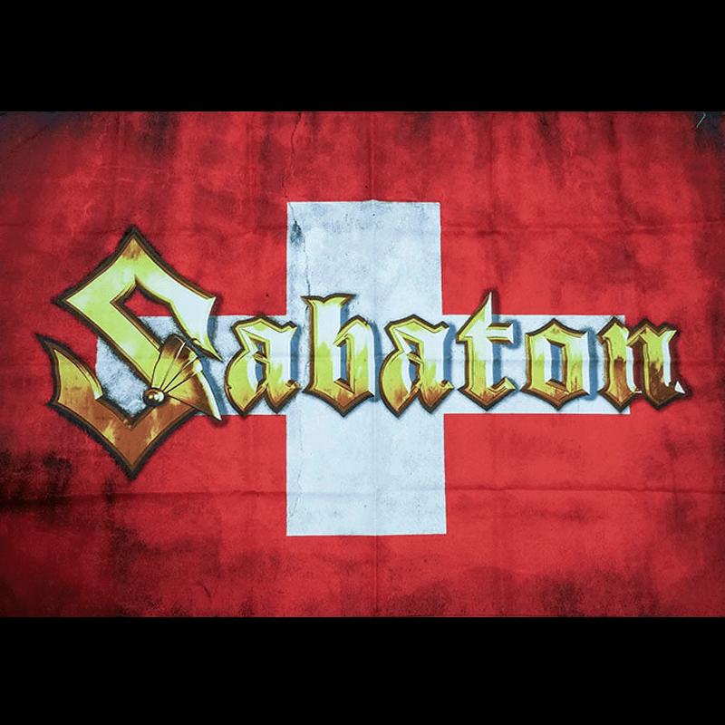 Swiss Sabaton Logo Flag