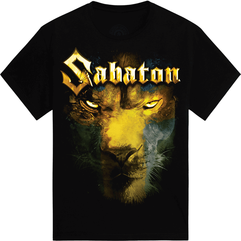 The lion from the north Sabaton tshirt frontside
