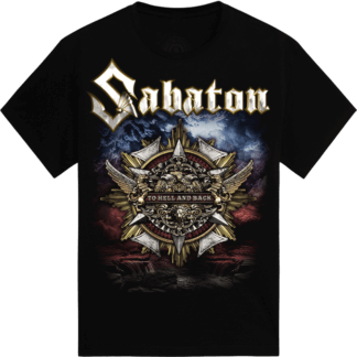 To hell and back Sabaton tshirt frontside
