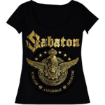 Wings of glory Sabaton black tshirt frontside