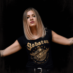 Wings of glory Sabaton Black T-shirt Frontside Model