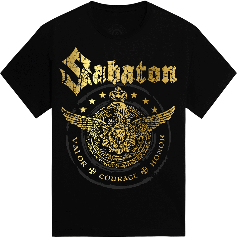 Wings of glory Sabaton tshirt frontside