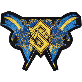 Sabaton logo Swedish flag patch