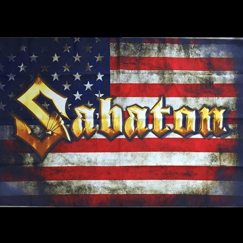 USA Sabaton Logo Flag
