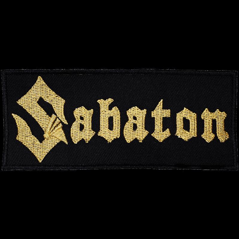 Gold Sabaton logo patch
