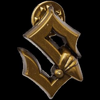 Gold metallic pin Sabaton