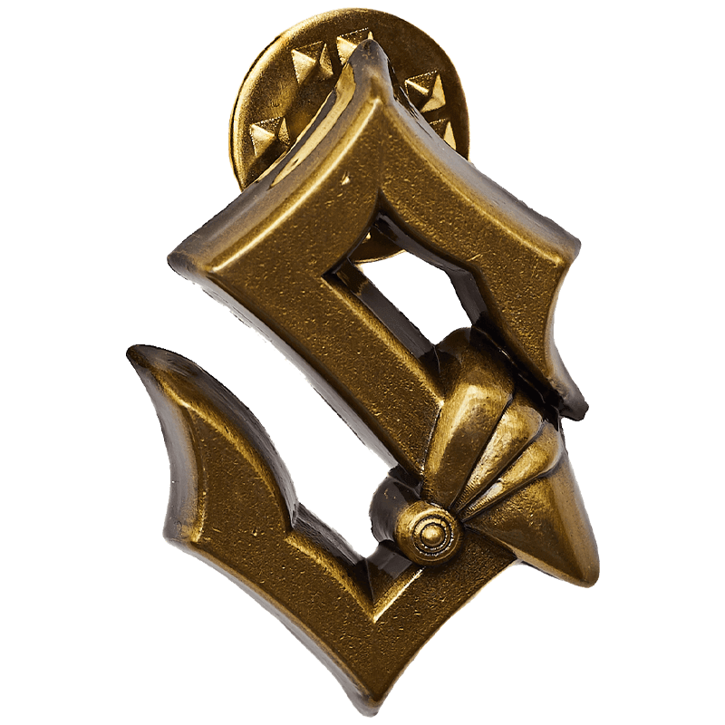 Gold metallic pin Sabaton