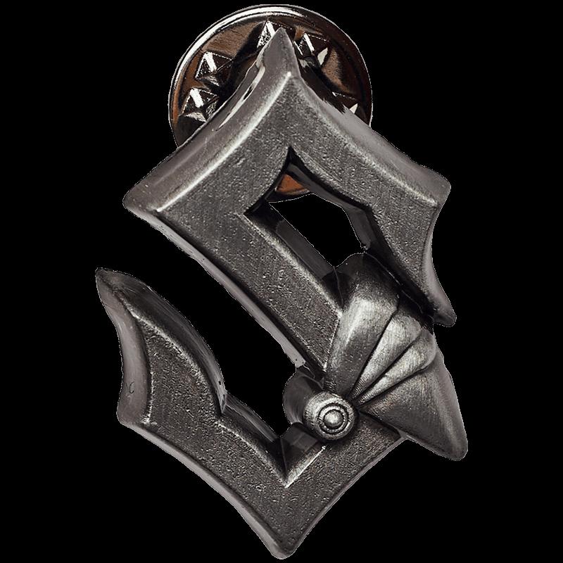 Silver metallic Sabaton pin