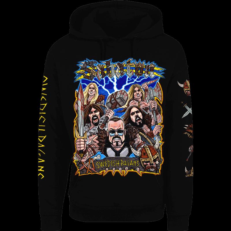 Swedish pagans Sabaton nonzip hoodie frontside