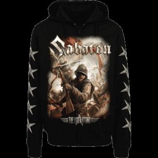 The last stand Sabaton zip hoodie frontside