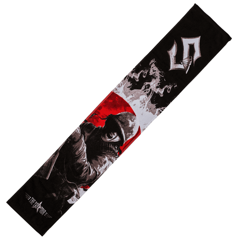 The last tour Sabaton towel frontside