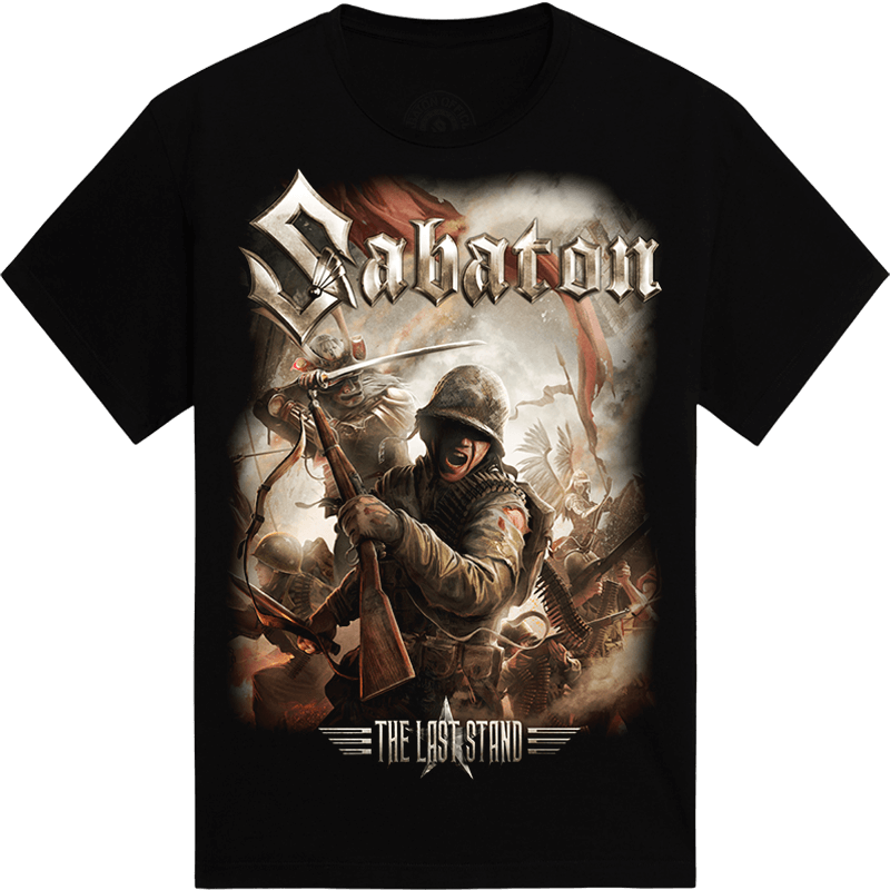 The last stand Sabaton tshirt frontside