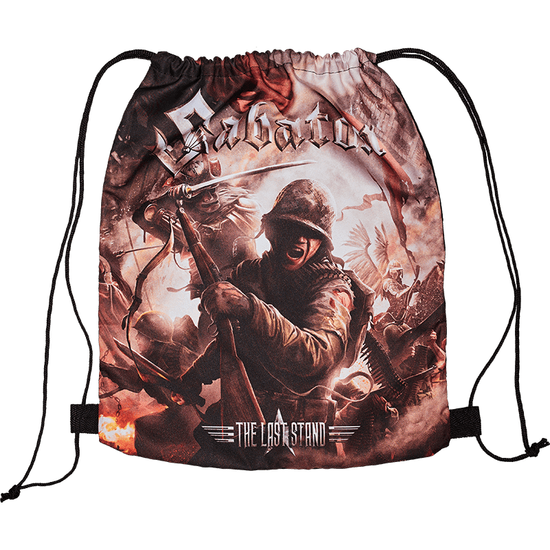 The last stand drawstring bag frontside