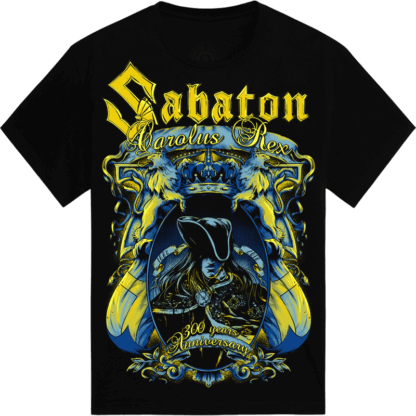 Carolus Rex 300 Years Anniversary Sabaton T-shirt Frontside