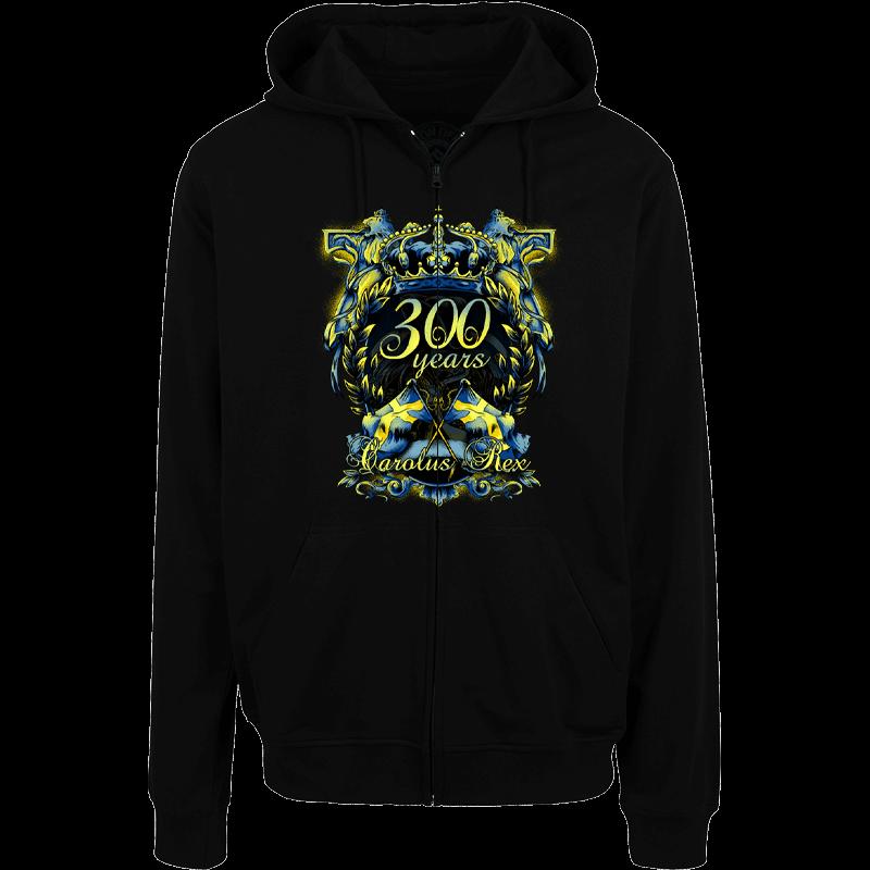 Carolus Rex 300 Years Anniversary Sabaton zip hoodie frontside