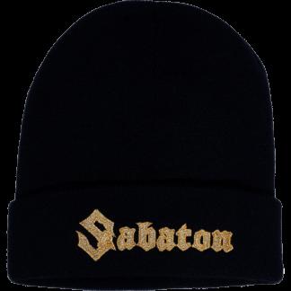 Sabaton gold logo cuffed beanie