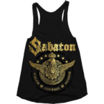 Wings of glory Sabaton girls grey top tank frontside