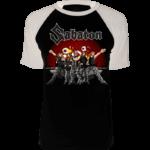 Anime Sabaton raglan tshirt frontside