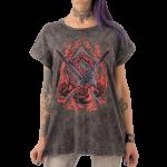 Steel Roses Vintage Sabaton Women T-shirt Closeup Model