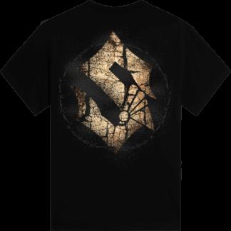 Barbed Skull Sabaton T-shirt Backside