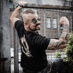 Barbed Skull Sabaton T-shirt Backside Joakim