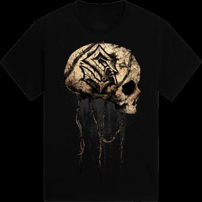 Barbed Skull Sabaton T-shirt Frontside
