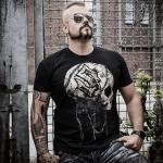Barbed Skull Sabaton T-shirt Frontside Joakim