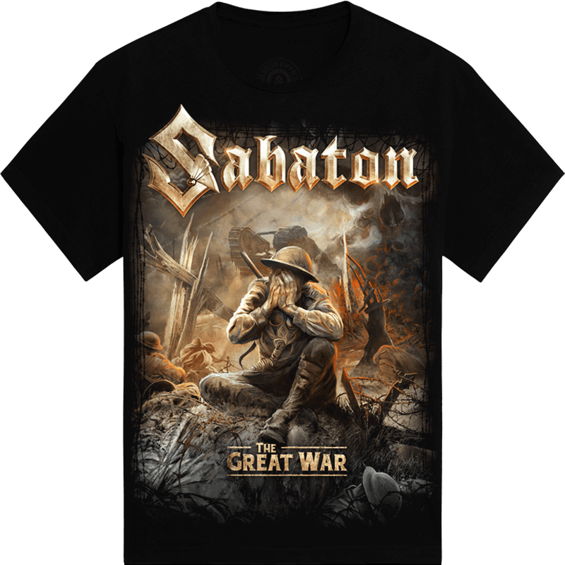 The great war Sabaton tshirt frontside