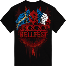 Hellfest Open Air Festival Sabaton Exclusive Tshirt Backside