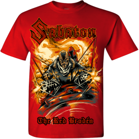 The Red Broden Sabaton T-shirt Frontside