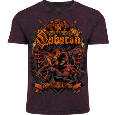 20th Anniversary Sabaton Exclusive T-shirt Frontside