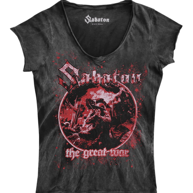 Crying Soldier Sabaton T-shirt Women Vintage Collection Frontside