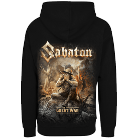 Crying Soldier Zip Hoodie Sabaton Backside