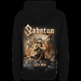 Crying Soldier Zip Hoodie Sabaton Backside
