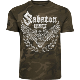 War and Peace Eagle Sabaton Camo T-shirt Frontside