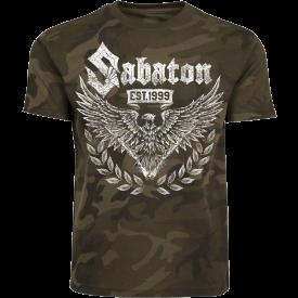 War and Peace Eagle Sabaton Camo T-shirt Frontside