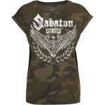 War and Peace Eagle Sabaton Camo T-shirt Women Frontside