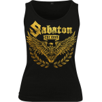 War and Peace Gold Eagle Sabaton Tank Top Women Frontside