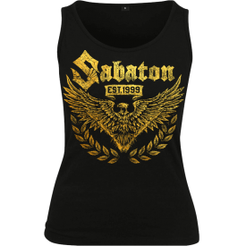 War and Peace Gold Eagle Sabaton Tank Top Women Frontside