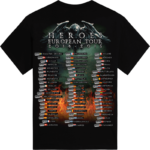 Heroes European Tour 2014-2015 Sabaton T-shirt Backside
